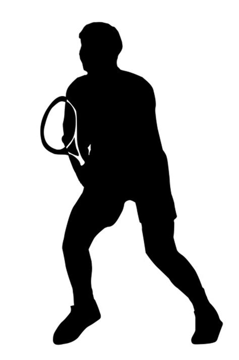 tennis player clipart black and white different kinds of sports clipart