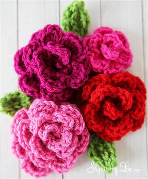 easy rose crochet pattern skip   lou