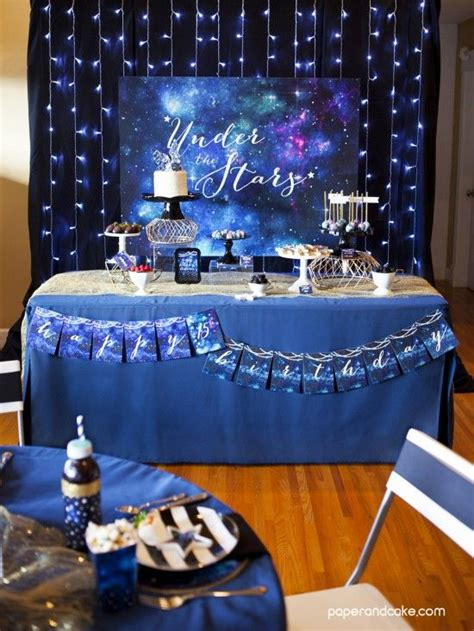 Under The Stars 15th Birthday Party Birthday Table