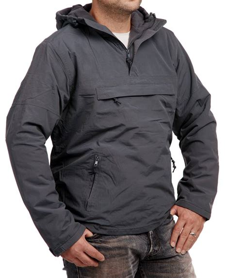 windbreaker herren weiß brandit windbreaker herren jacke mit fleecefutter hoody schlupfjacke anthrazit ebay