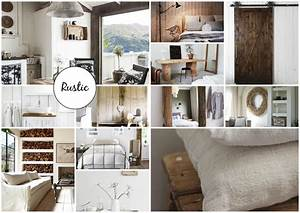Rustic details in interior design mood board created on for Interior decor mood boards