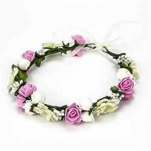 Couronne Fleur Cheveux Mariage : couronne fleur cheveux ~ Melissatoandfro.com Idées de Décoration