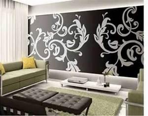 Papier Peint Rayé Noir Et Blanc : deco tapisserie salon meilleures images d 39 inspiration ~ Dailycaller-alerts.com Idées de Décoration