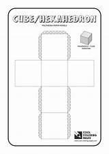 Coloring Cube Paper Cool Models Solids Polyhedra Educational Activities sketch template