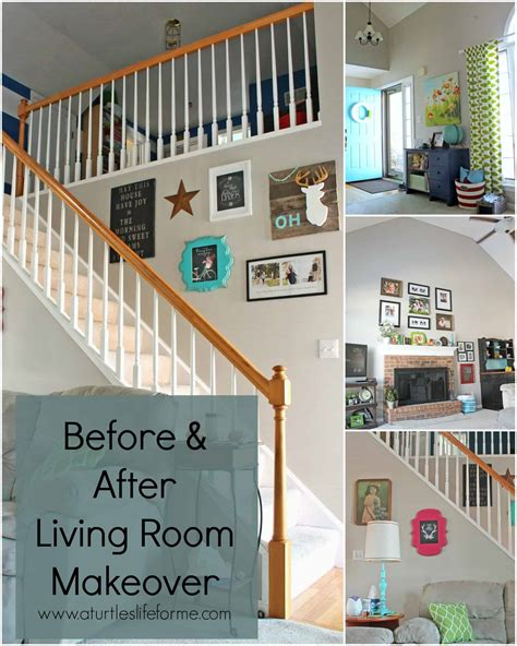 Living Room Paint Makeovers by Before And After Living Room Makeover A Turtle S For Me