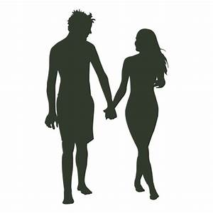 Couple walking silhouette beach - Transparent PNG & SVG vector
