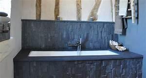 Plan De Travail Ardoise : plan de travail ardoise noire salle de bain parement ardoise ~ Preciouscoupons.com Idées de Décoration
