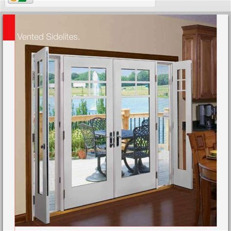 therma tru vented sidelites french doors patio french