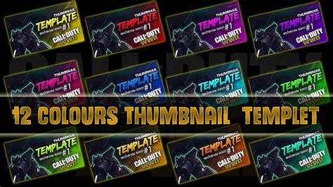 Thumbnail Template Free Thumbnail Template Call Of Duty Ww2 12 Color