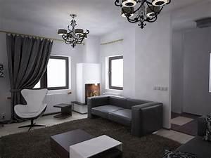 Schwarz Weiß Wohnzimmer : bilder 3d interieur wohnzimmer schwarz wei 39 valea lupului 39 2 ~ Orissabook.com Haus und Dekorationen