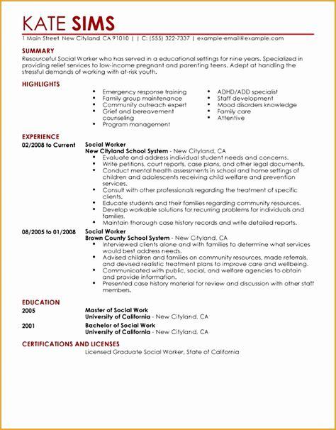 Free Resume Sourcing Websites by 4 Social Worker Resume Exles Free Sles Exles Format Resume Curruculum Vitae