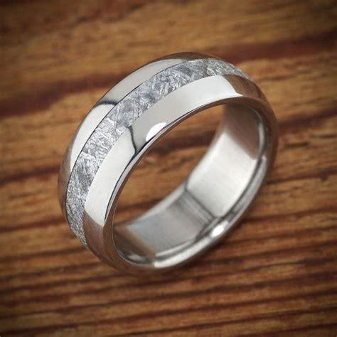 meteorite ring  spexton jewelers unique   mens