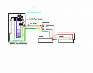 Double Pole Line Voltage Thermostat Wiring Diagram