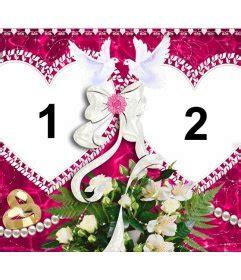 marco de fotos  dos corazones  san valentin