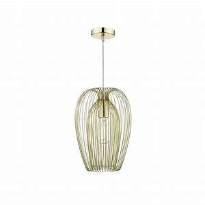 Dar lighting ero single light ceiling pendant in gold
