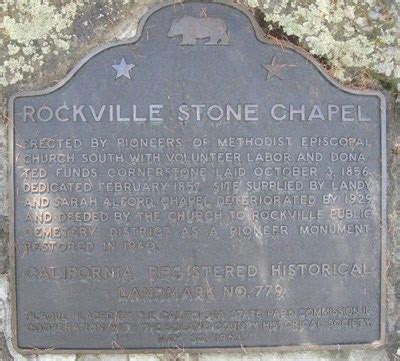rockville chapel california historical markers on