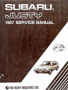1987 Subaru Justy Repair Shop Manual Original
