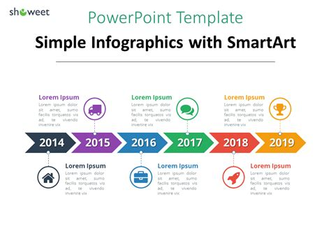 simple timeline template  smartart