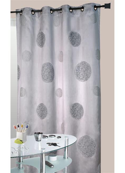 rideau gris en shantung brod 233 ronds m 234 l 233 s gris homemaison vente en ligne rideaux