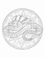 Coloring Pages Mandala Dragon Waffle Mandalas Waffles Printable Adults Getcolorings Pag Justcolor Getdrawings sketch template