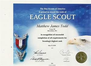 information playground matthew39s eagle application and With eagle scout certificate template
