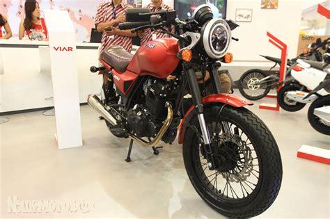 Modification Viar Vintech by Viar Vintech 250 Cafe Racer Indonesia Mejeng Di Giias 2018