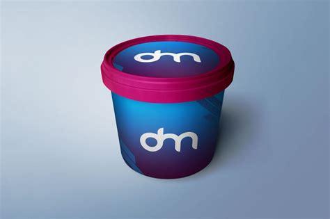 Plastic bucket with sauce mockup. Plastic Bucket Mockup PSD - Download PSD