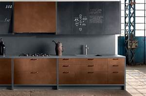 Copper Kitchen Cabinets Modern Kitchen New York By
