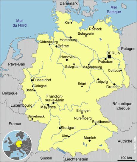 Carte Allemagne Vierge by Carte Allemagne Vierge Noms Villes Carte Vierge De L