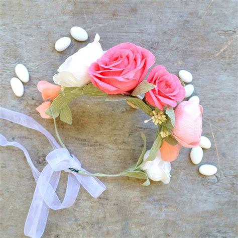 fiori capelli coroncina per capelli con fiori di carta la figurina shop