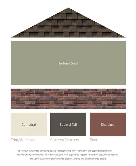 fresh color palettes for a brown roof exterior paint