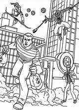 Coloring Bank Robber Goblin Spiderman Coloringsun Pursue Template sketch template