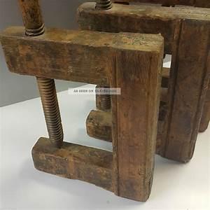 Antike Esstische Holz : 6 antike holz schraubzwingen holzgewinde zimmermann tischler schreiner um 1880 ~ Michelbontemps.com Haus und Dekorationen