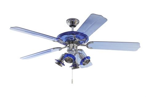 ceiling fan blue with lighting 132 cm 52 quot ceiling