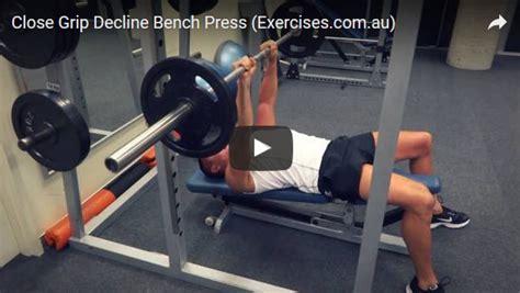 Decline Bench Grip Triceps Press by Grip Decline Bench Press 1 33 Min How To