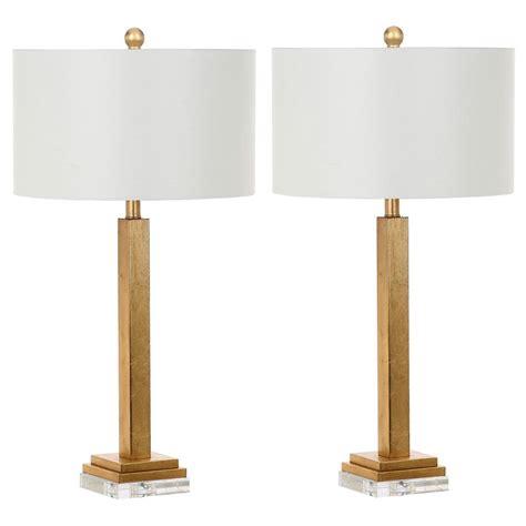Safavieh Perri 30 In Gold Crystal Base Table Lamp (set Of
