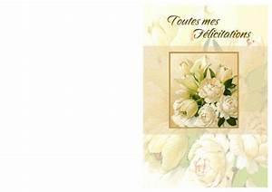 Carte De Voeux à Imprimer Gratuite : carte gratuite de f licitations fian ailles imprimer ~ Nature-et-papiers.com Idées de Décoration