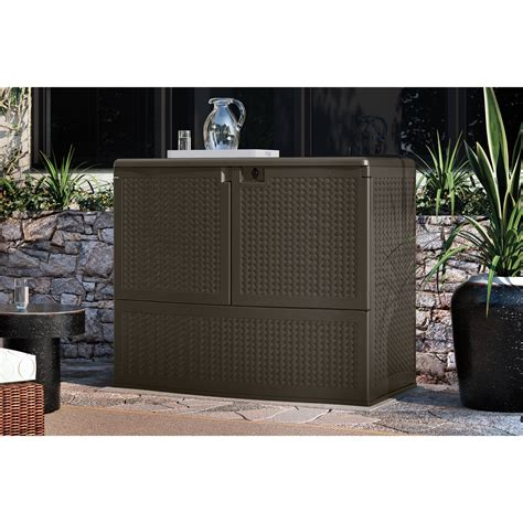 suncast 195 gallon vertical deck box suncast herringbone vertical deck box by suncast at garden