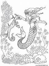 Coloring Mermaid Mako Popular sketch template