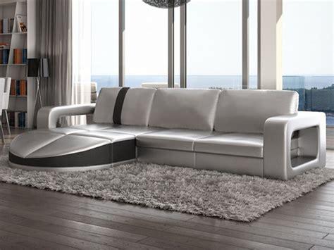 vente canape design canapé d 39 angle réversible talita en simili argenté prix