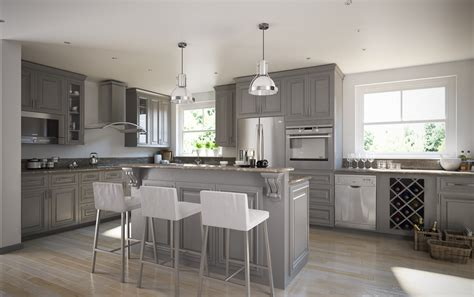 Gray Kitchen Cabinets by Roosevelt Steel Gray Pre Assembled Kitchen Cabinets The