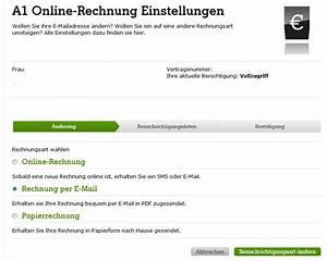 Rechnung Per E Mail : a1 rechnung jetzt auch als e mail a1blog ~ Themetempest.com Abrechnung