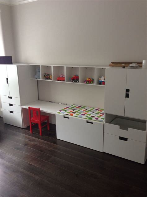 Stuva Ideen by Stuva Desk And Units With Forhoja Box Shelves From Ikea