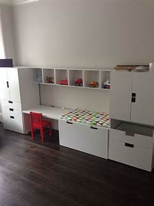 Aufbewahrung Kinderzimmer Ikea : stuva desk and units with forhoja box shelves from ikea ~ Michelbontemps.com Haus und Dekorationen