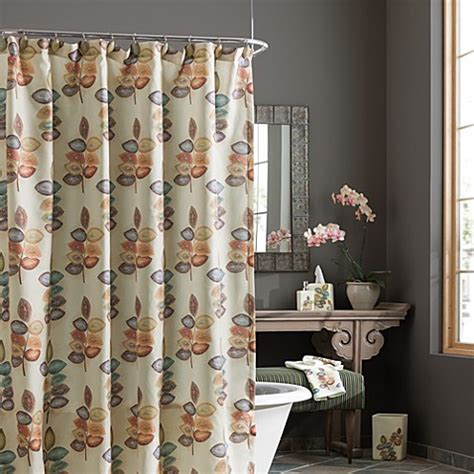 croscill shower curtains croscill 174 mosaic leaves fabric shower curtain bed bath