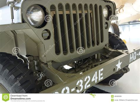 military jeep front united states vintage army jeep front editorial stock