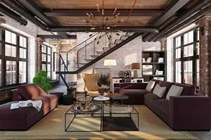 1001 idees de decoration pour votre salon cosy et beau With deco salon avec escalier