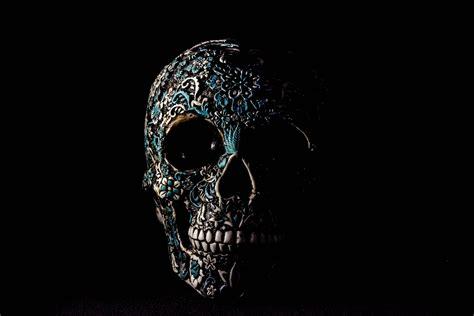 wallpaper skull dark patterns bones hd widescreen