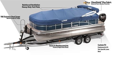 Pontoon Boat Top Covers by Lowe Pontoon Boat Covers Enclosures Biminis And