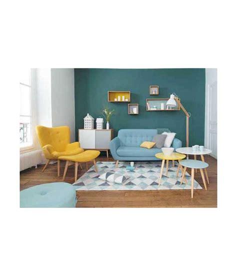 chambre mur violet petit fauteuil en tissu jaune vintage maison du monde